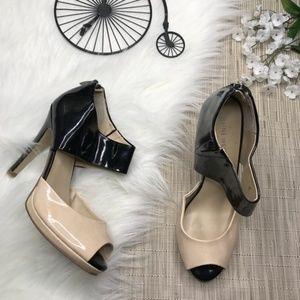 Nine West Color Black Peep Toe Heels